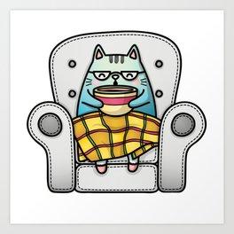 Funny Cat Art Print