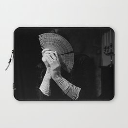 The white folding fan Laptop Sleeve