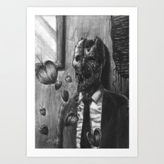 The Illegible Bachelor Art Print