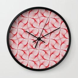 Spiraling Cranberry Wall Clock