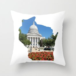 Beautiful Capitol Building in Wisconsin Throw Pillow