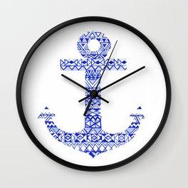 Tribal Anchor Wall Clock