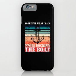 Swearing Captain Humor Sailing Boat Owner iPhone Case