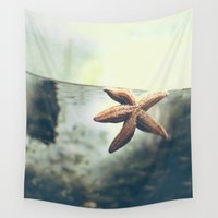 starfish Wall Tapestries featuring Starfish by Katie Koop