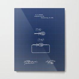 Adjustable Bale Tie Vintage Patent Hand Drawing Metal Print