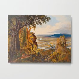 The Comuti Or Taquiare Rock Illustrations Of Guyana South America Natural Scenes Hand Drawn Metal Print