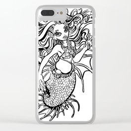Mermaid Bae Clear iPhone Case