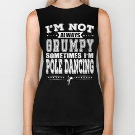 Grumpy Pole Dancing Lover Funny Gift Biker Tank