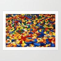 A Sea Full of Legos Art Print
