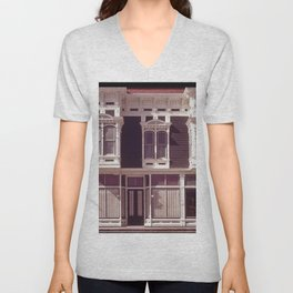 CONTROLLED DEVELOPMENT AND THOUGHTFUL RESTORATION MAKE THIS OLD FARMING TOWN AN ATTRACTIVE PLACE TO Unisex V-Neck