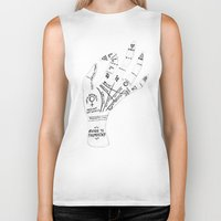 reading Biker Tanks featuring Palm Reading by Cat Coquillette
