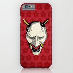 Japanese Ghost Mask with Sakura Pattern iPhone 6s Slim Case