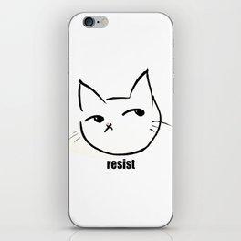 Resist kitty iPhone Skin