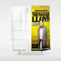 postcard Shower Curtains featuring King Kaufman: The Passion of Lloyd (2008) - Movie Poster Postcard by Tex Watt