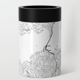 Auckland White Map Can Cooler