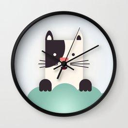 Cat Watching Wall Clock