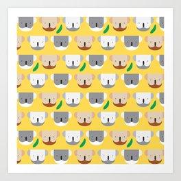Kooky Koalas I Art Print