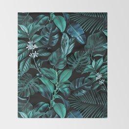 Tropical Garden Throw Blanket