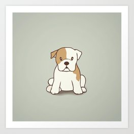 English Bulldog Illustration Art Print