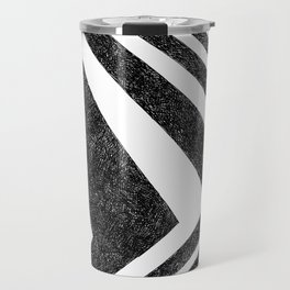 BLACK WHITE GEOMETRIC 10 Travel Mug