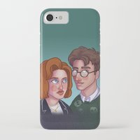scully iPhone & iPod Cases featuring Spooky & Scully by Charlotte Foley