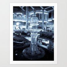 Twilight Fountain Art Print