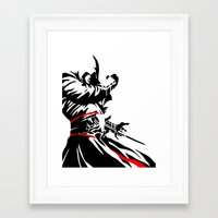assassins creed Framed Art Prints featuring Assassins Creed  by iankingart
