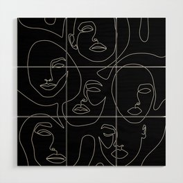 Faces in Dark Wood Wall Art