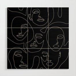 Faces in Dark Wood Wall Art