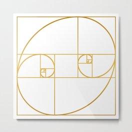 Golden Oval Metal Print