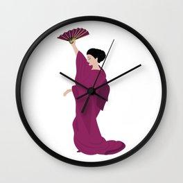 Woman in kimono Wall Clock
