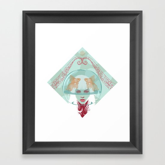 Nautical Surrealism Framed Art Print
