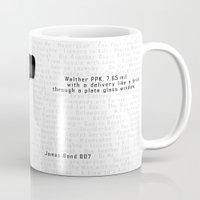 bond Mugs featuring Bond PPK by AngoldArts