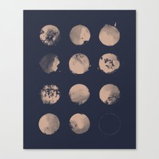 Douze Lunes Canvas Print