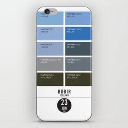 PANTONE glossary - Iceland - Búðir iPhone Skin
