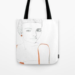 Portrait of Girl with Orange Tote Bag