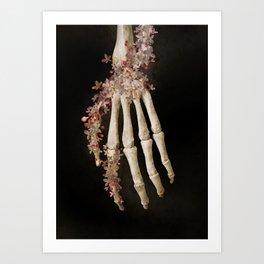 """""""Spring 1"""" skull and flowers Art Print"""