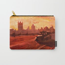 London Taxi Big Ben Sunset with Parliament Carry-All Pouch
