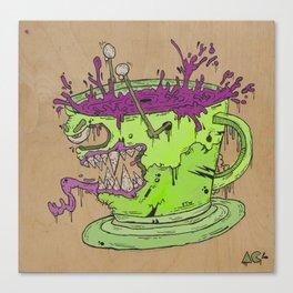 Evil Coffee Canvas Print