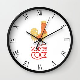 2017 Year of the Cock Wall Clock