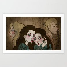 Twin Princesses Art Print