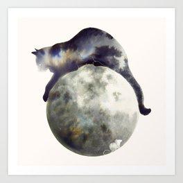 Lunar Hunter Art Print