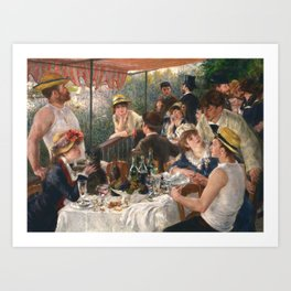 Luncheon of the Boating Party by Renoir Art Print