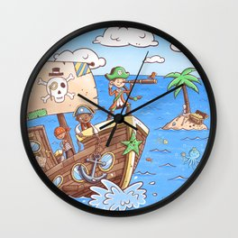 Even Pirates Need to Listen Wall Clock