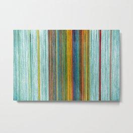 Pastel Threads Metal Print