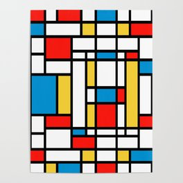 Tribute to Mondrian No2 Poster