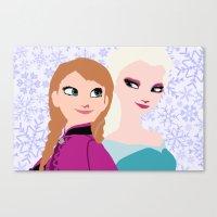 frozen Canvas Prints featuring Frozen by Sammycrafts