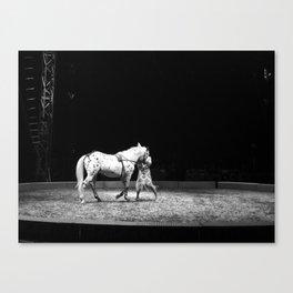 Circus Horse & Trainer Canvas Print
