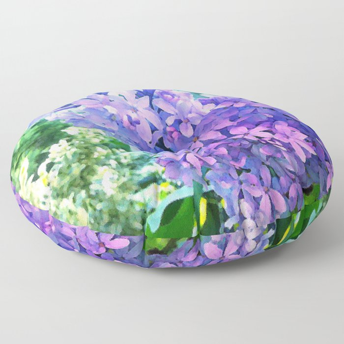 Lilacs in Bloom Floor Pillow