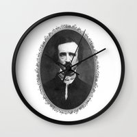 poe Wall Clocks featuring Poe by fyyff